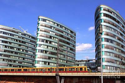 Photograph - Train Ride Through Berlin by John Rizzuto