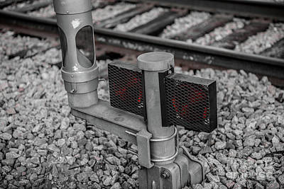 Photograph - Train Signal  by Dale Powell