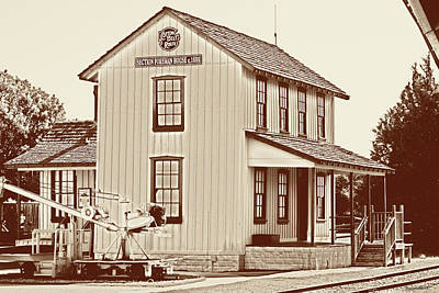 Photograph - Vintage Train Station  by Roberta Byram