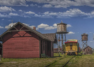 Photograph - Train Station At 1880 Town In South Dakota by Randall Nyhof