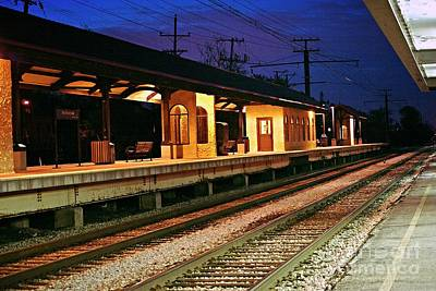 Frank J Casella Royalty-Free and Rights-Managed Images - Train Station by Frank J Casella