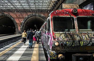 Photograph - Train Station In Napoli by Jocelyn Kahawai