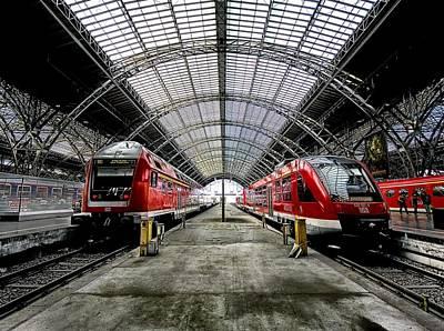 Artwork Digital Art - Train Station by Maye Loeser