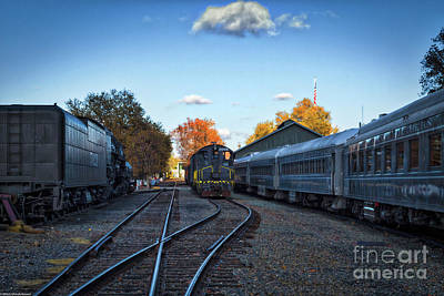 Photograph - Train Station by Mitch Shindelbower