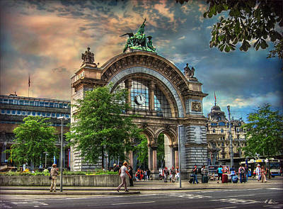 Photograph - Train Station Portal by Hanny Heim