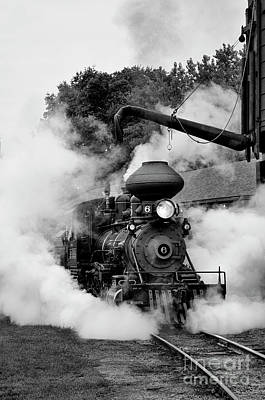 Photograph - Train Steam Engine #6 by Tamara Becker