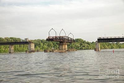 Nikki Vig Royalty-Free and Rights-Managed Images - Train Swing Bridge by Nikki Vig