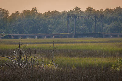 Photograph - Train Trestle Over The Marsh by Dale Powell