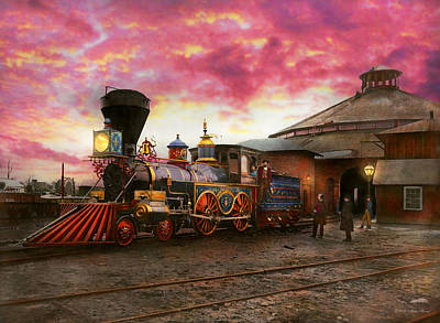 Photograph - Train - The Jh Devereux 1862 by Mike Savad
