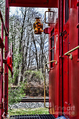 Train - The Red Caboose Art Print