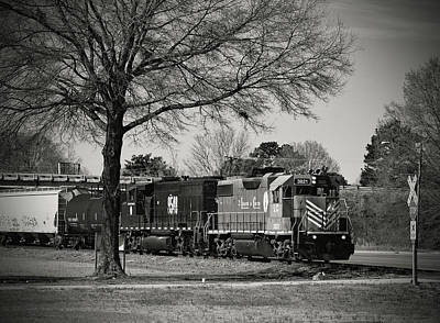 Photograph - Train Through Fort Lawn B W 2 by Joseph C Hinson Photography