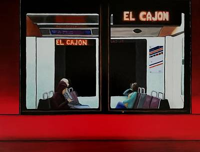 Painting - Train To El Cajon by Karyn Robinson