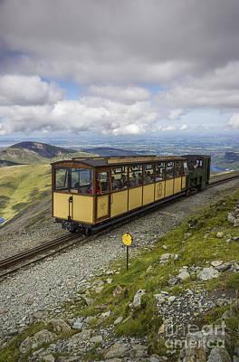 Railway Locomotive Photograph - Train To Snowdon by Ian Mitchell