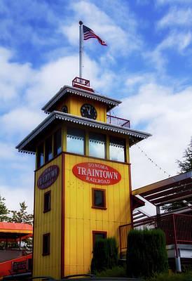 Napa Valley Digital Art - Train Town 1 by Terry Davis