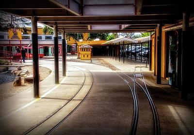 Napa Valley Digital Art - Train Town 2 by Terry Davis