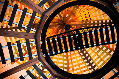 Train Track Abstract Art Print by Karen Wiles