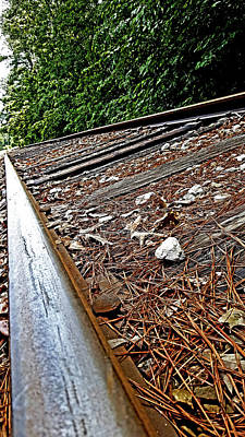 Photograph - Train Track Close Up by Anthony Scarpace