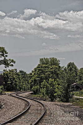 Selective Color Photograph - Train Tracks Thru The Laurel Highlands by Tom Gari Gallery-Three-Photography
