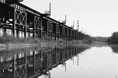 Photograph - Train Track Reflections by Aaron Dishner