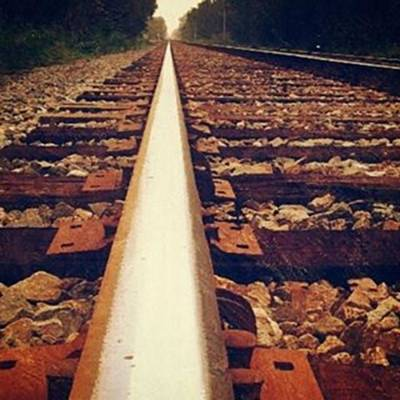 Track Photograph - #train #track #the #railway #railroad by Peggy Hoefner