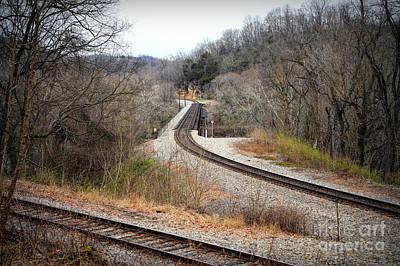 Photograph - Train Tracks Across The New River - Radford Virginia by Kerri Farley