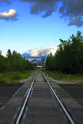 Photograph - Train Tracks Anchorage Alaska by Anthony Jones