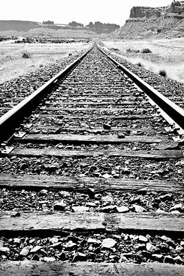 Photograph - Train Tracks Into The Horizon by Athena Mckinzie