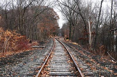 Train Tracks Art Print by John Rizzuto