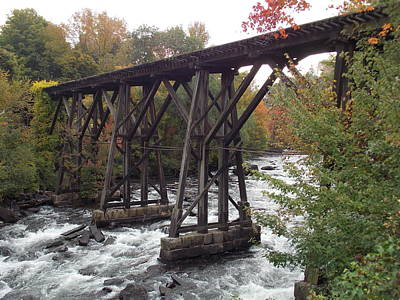 Photograph - Train Tracks Over The Winnipesaukee River by Catherine Gagne