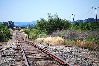 Photograph - Train Tracks Rural Landscape by Matt Harang
