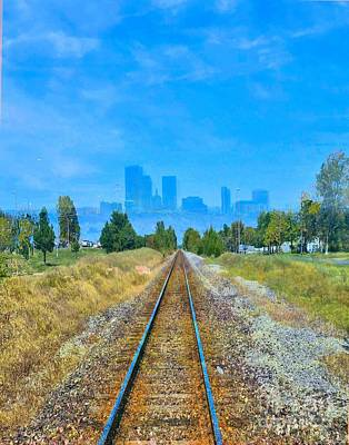 Photograph - Train Tracks To Tulsey Town by Janette Boyd