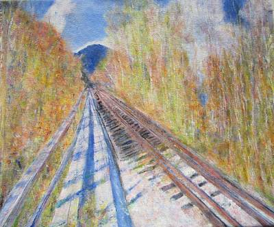 Painting - Train Tracks Up North by Glenda Crigger