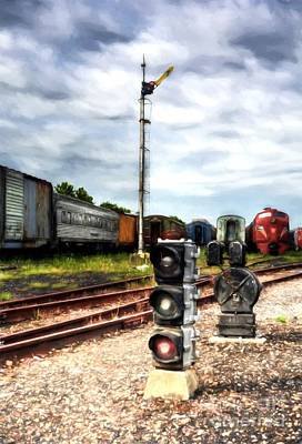 Greater Cincinnati Photograph - Train Traffic Signals by Mel Steinhauer