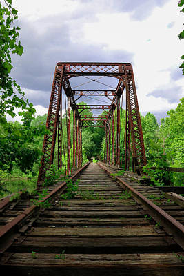 Rickety Bridge Photograph - Train Trestle by Lisa Bell