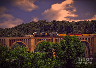Photograph - Train Trestle Over The James by Melissa Messick