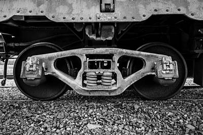 Photograph - Train Truck Detail by TL  Mair