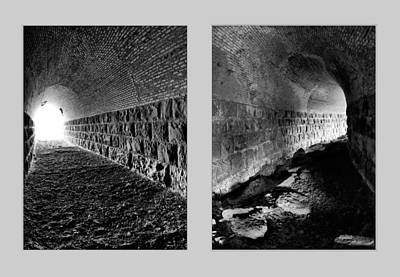 Train Tunnel Diptych Art Print
