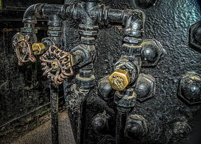 Photograph - Train Valves  by Bill Posner