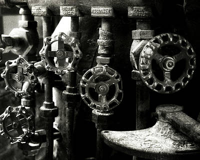 Photograph - Train Valves by Timothy Bulone
