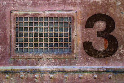 Rectangles Photograph - Train Vent 3 by Carol Leigh