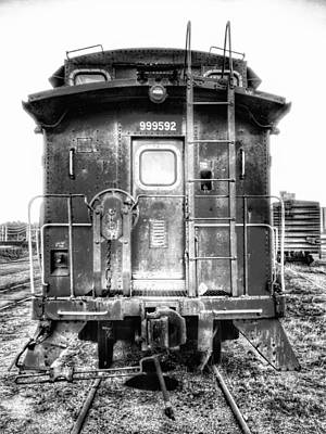 Photograph - Train Waiting In Atchison Kansas by Dustin Soph