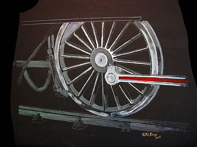 Painting - Train Wheels 2 by Richard Le Page