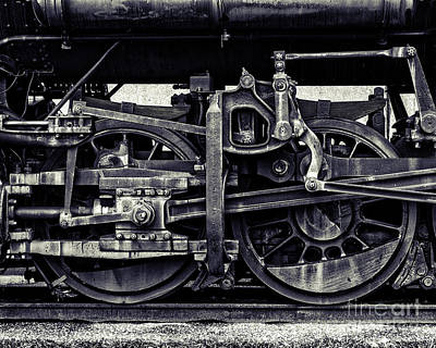 Train Wheels Cropped Art Print by Emily Kay
