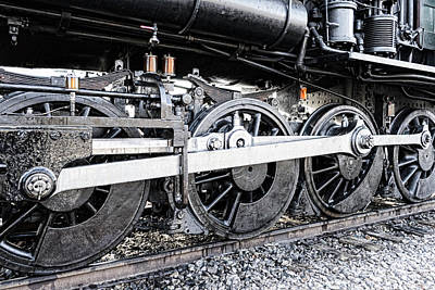 Photograph - Train Wheels by Sharon Popek
