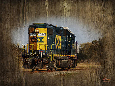 Photograph - Train Yard 2 by Jim Ziemer