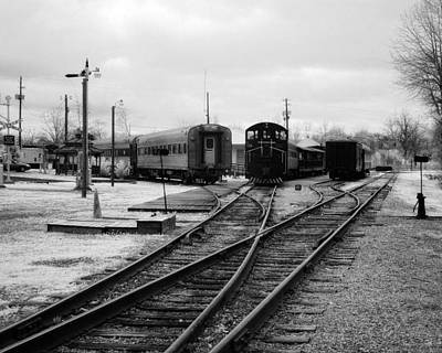 Train Yard Art Print by Fred Baird