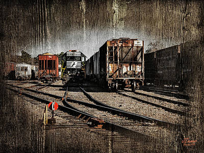 Photograph - Train Yard by Jim Ziemer