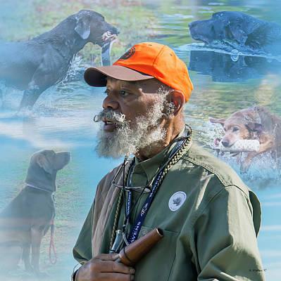 Mixed Media - Trainer - Labrador Retriever by Brian Wallace