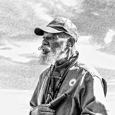 Mixed Media - Trainer - Labrador Retriever - Pencil Fx by Brian Wallace