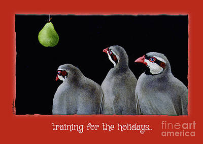 Painting - Training For The Holidays... by Will Bullas